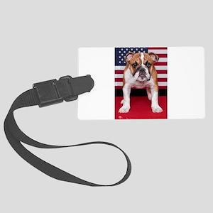 All American Bulldog Large Luggage Tag