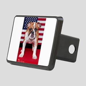 All American Bulldog Rectangular Hitch Cover