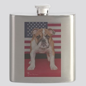 All American Bulldog Flask