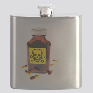 Toxic medication, conceptual image - Flask
