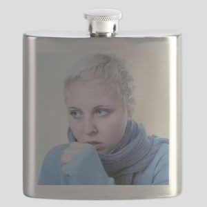 Woman coughing - Flask