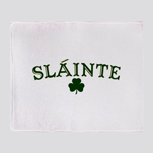 Slainte toast to your health Throw Blanket