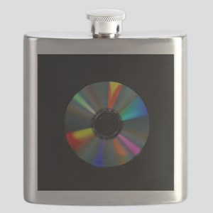 Compact disc with light interference patterns - Fl