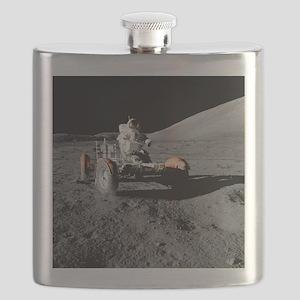 Eugene an on Lunar Rover, Apollo 17 - Flask