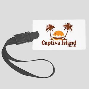 Captiva Island - Palm Trees Design. Large Luggage