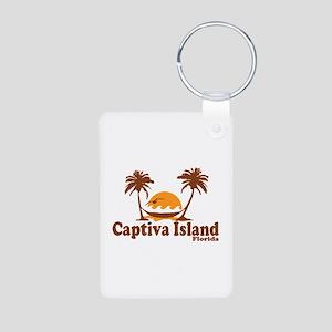 Captiva Island - Palm Trees Design. Aluminum Photo