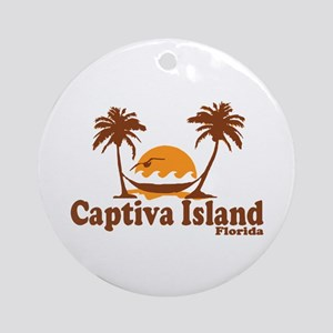 Captiva Island - Palm Trees Design. Ornament (Roun