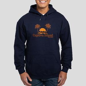 Captiva Island - Palm Trees Design. Hoodie (dark)