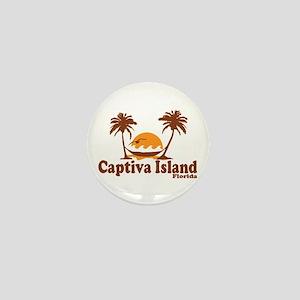 Captiva Island - Palm Trees Design. Mini Button