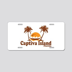 Captiva Island - Palm Trees Design. Aluminum Licen