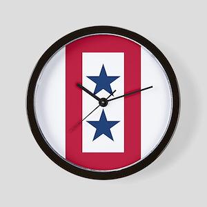 Blue Star Flag 2 Wall Clock