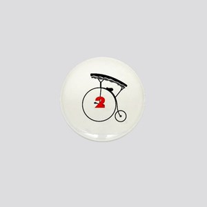 Number Two Mini Button