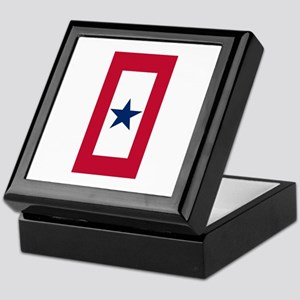 Blue Star Flag Keepsake Box