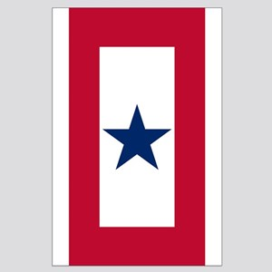 Blue Star Flag Large Poster