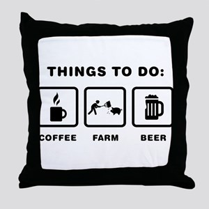 Farmer Throw Pillow