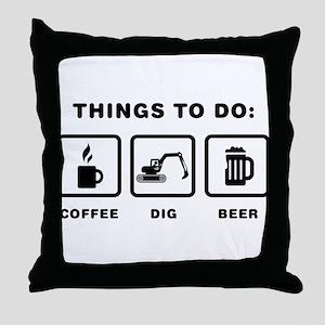 Excavator Throw Pillow