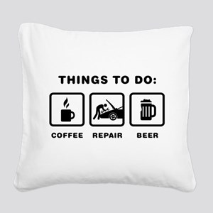 Mechanic Square Canvas Pillow