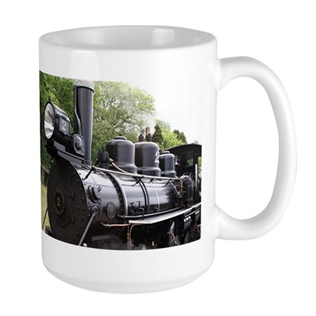 Steam train, Wales, United Kingdom 2 Large Mug