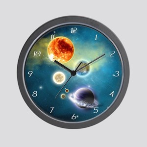 New Solar System Wall Clock