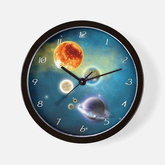 New Solar System Wall Clock