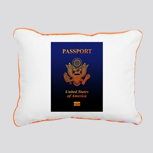 PASSPORT(USA) Rectangular Canvas Pillow
