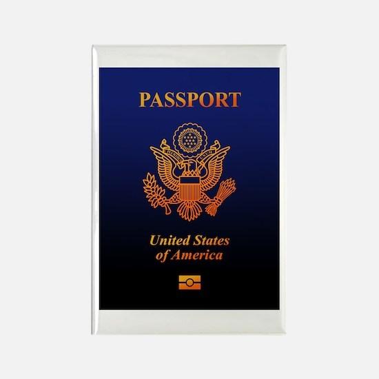 PASSPORT(USA) Rectangle Magnet