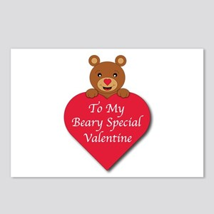 A Beary Special Valentine Postcards (Package of 8)