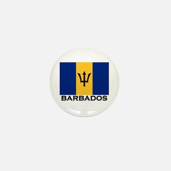 Barbados Flag Stuff Mini Button