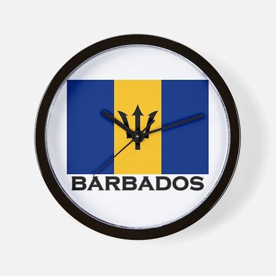 Barbados Flag Stuff Wall Clock
