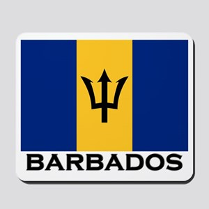 Barbados Flag Stuff Mousepad