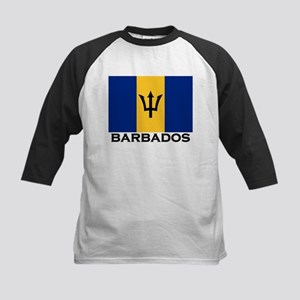 Barbados Flag Stuff Kids Baseball Jersey