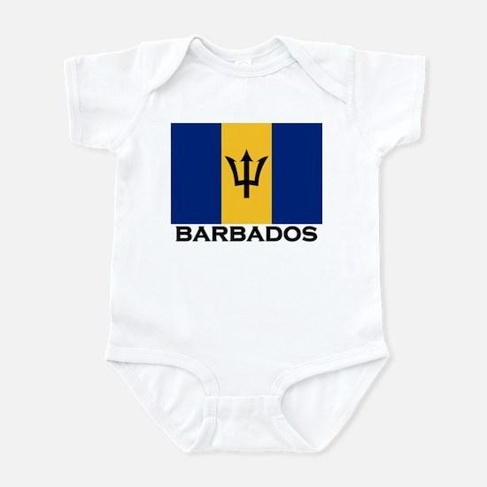 Barbados Flag Stuff Infant Bodysuit