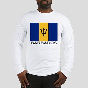 Barbados Flag Stuff Long Sleeve T-Shirt