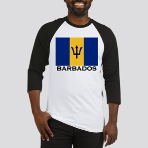 Barbados Flag Stuff Baseball Jersey