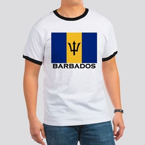 Barbados Flag Stuff Ringer T