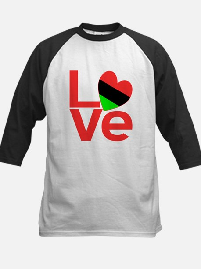 African American Love Kids Baseball Jersey