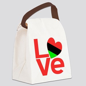 African American Love Canvas Lunch Bag