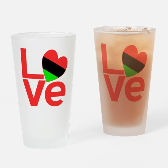 African American Love Drinking Glass