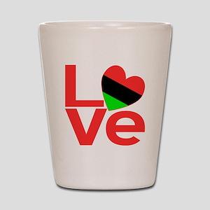 African American Love Shot Glass