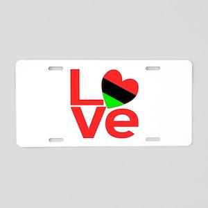 African American Love Aluminum License Plate