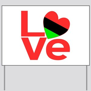 African American Love Yard Sign