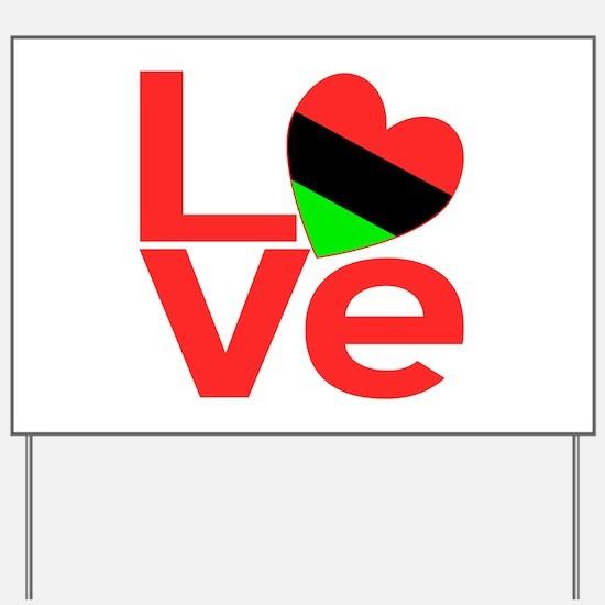 African American Love Yard Sign