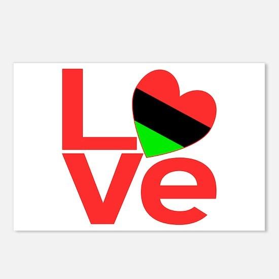 African American Love Postcards (Package of 8)