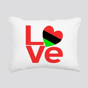 African American Love Rectangular Canvas Pillow