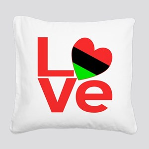 African American Love Square Canvas Pillow