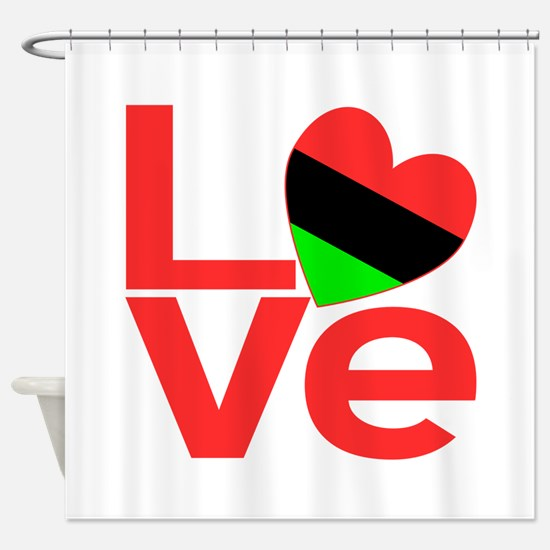African American Love Shower Curtain