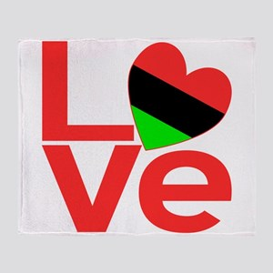 African American Love Throw Blanket