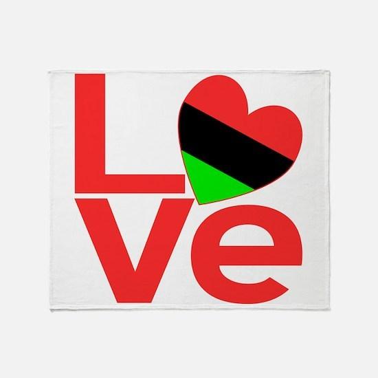 African American Love Throw Blanket