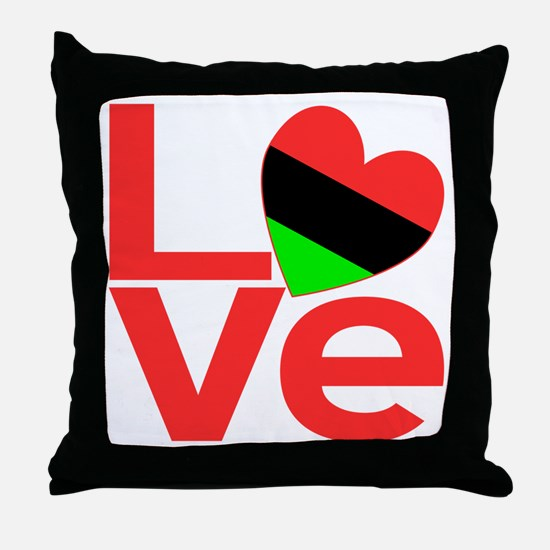African American Love Throw Pillow