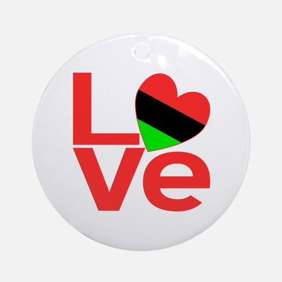 African American LOVE Ornament (Round)